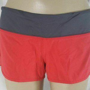 Lululemon Tango Red Speed shorts sz 6 RARE